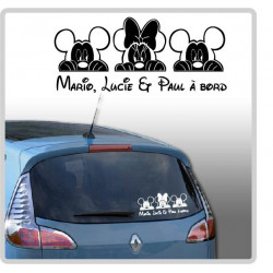 Sticker Bébé à Bord - 2 Mickey & Minnie