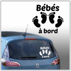 Sticker Bébé à Bord - 2 pieds de bébé