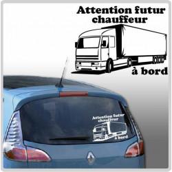 Sticker Bébé à Bord - Camion Poids Lourd