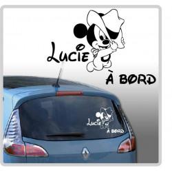 Sticker Bébé à Bord - Mickey Chapeau