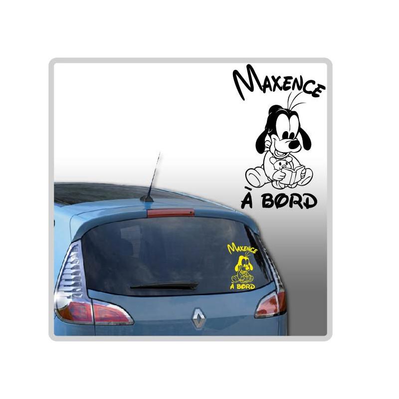 Sticker Bébé à Bord - Pluto Lecture