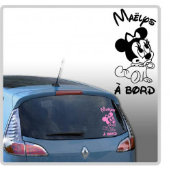 Sticker Bébé à Bord - Minnie Mouse Tétine