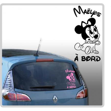 Sticker Bébé à Bord - Minnie Mouse Tétine