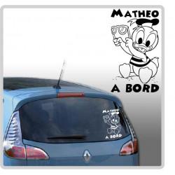 Sticker Bébé à Bord - Donald Lunette