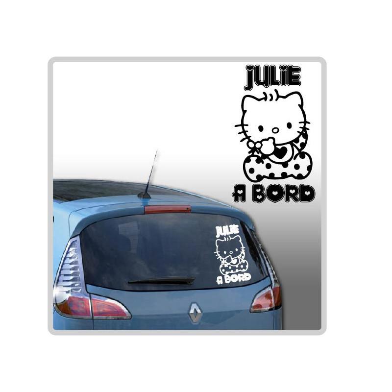 Sticker Bébé à Bord - Hello Kitty