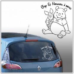 Sticker Bébé à Bord - Winnie et Porcinet