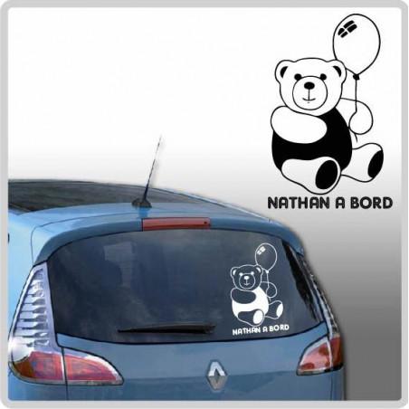 Sticker Bébé à Bord - Ourson Ballon