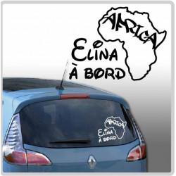 Sticker Bébé à Bord - Africa