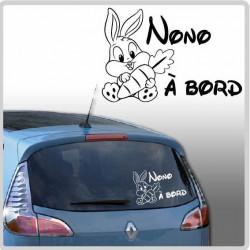 Sticker Bébé à Bord - Lapin Carotte