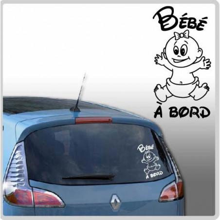 Sticker Bébé à Bord - Petite fille