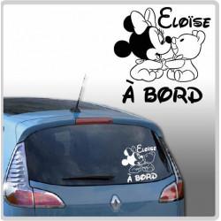 Sticker Bébé à Bord - Minnie Peluche