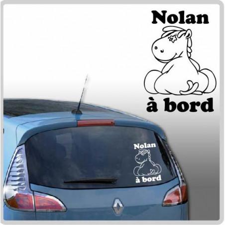 Sticker Bébé à Bord - Noukie's Victor de dos