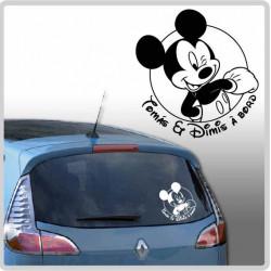 Sticker Bébé à Bord - Mickey heureux