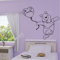 Winnie Heureux - Ballon Coeur + prénom personnalisable