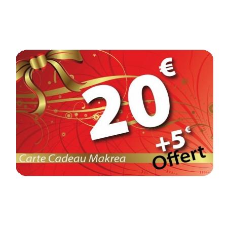 Carte cadeau 20€ valeur 25€