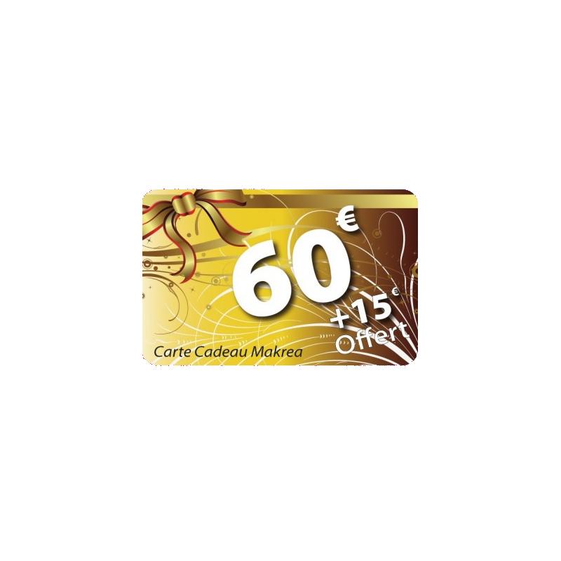 Carte cadeau 60€ valeur 75€