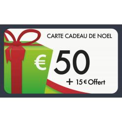 Carte cadeau 50€ valeur 65€