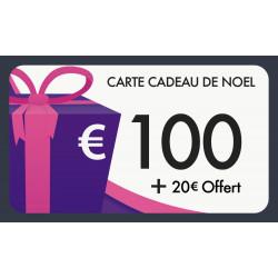 Carte cadeau 100€ valeur 120€