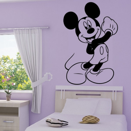 Sticker Mural Mickey Heureux
