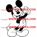 Sticker Mickey Heureux