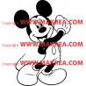 Sticker Mickey Heureux
