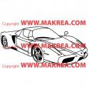 Sticker Voiture Ferrari
