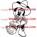 Sticker Minnie Halloween