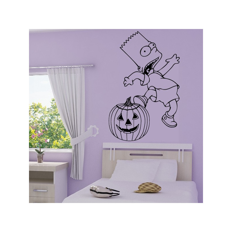 Sticker Simpson Bart Halloween