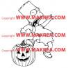 Sticker Simpson Bart Halloween