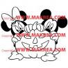 Sticker Mickey Minnie Citrouille Halloween