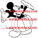 Sticker Mickey Habille de Citrouille Halloween