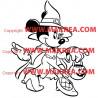Sticker Minnie Halloween