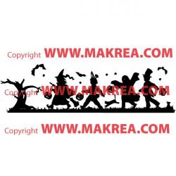 Sticker Enfants Déguisés Halloween