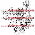 Sticker Winnie - Tigrou Halloween
