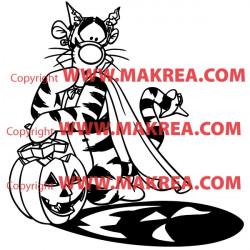 Sticker Winnie - Tigrou Halloween 2