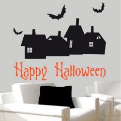 Pack / kit Halloween Maisons et Chauve-Souris