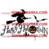 Sticker Pack / kit Halloween Sorcière, Chauve-souris, Cimetière, citrouille 2 couleurs