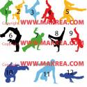 Sticker Pack / kit 12 danseurs Hip Hop