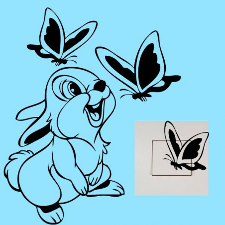 Stickers Interrupteur / Prise Panpan Papillons