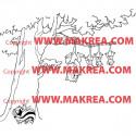 Sticker Bambi - Arbre Putois et Opossums