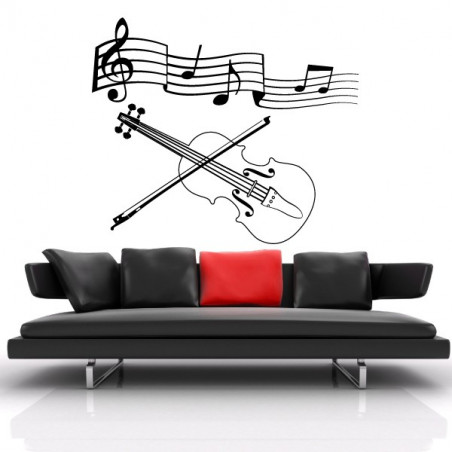 Portée musicale et violon