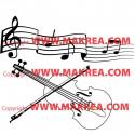 Sticker Portée musicale et violon