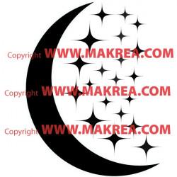 Stickers 20 Etoiles et Lune