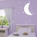 Stickers 20 Etoiles et Demi-Lune