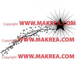 Sticker Etoile filante comete
