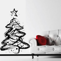 Sapin de Noël esquisse