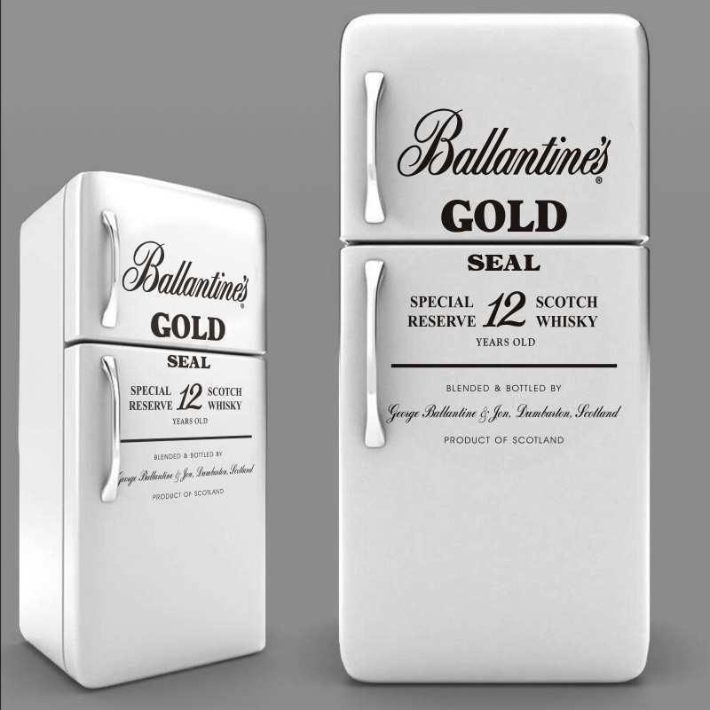Sticker Ballantines Gold Seal