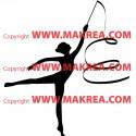 Sticker Gymnastique Rythmique Ruban