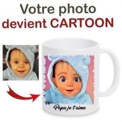 Mug photo cartoon