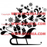 Sticker Noël - Traîneau - Décorations